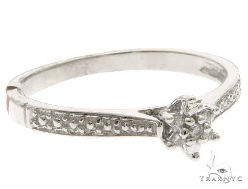 10K White Gold Micro Pave Diamond Ring 61641 Anniversary/Fashion