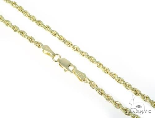 10K Yellow Gold Rope Chain 24 Inches 2mm 3.6 Grams 61654 Gold