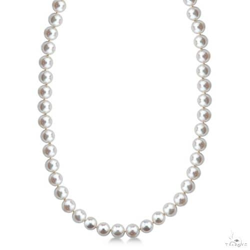 Freshwater Cultured Pearl Necklace with 14k Gold 7.0-7.5mm Stone
