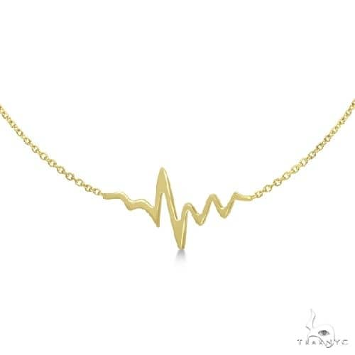 Adjustable Heartbeat Bracelet in 14k Yellow Gold Gold