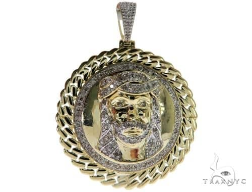 Diamond Jesus Head Pendant 61723 Metal