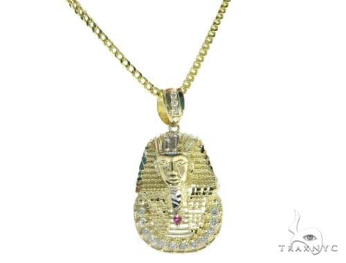 Pharaoh Pendant and 24 Inches Hollow Franco Chain Set 61735 Style