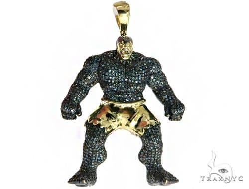 Custom Jewelry Hulk Diamond Pendant 61769 Metal