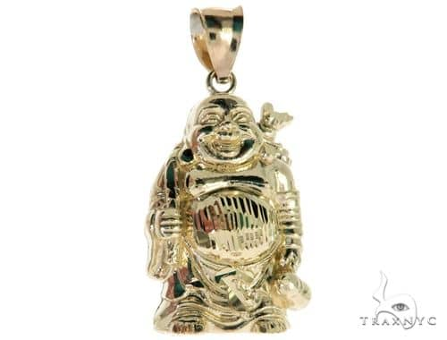 10K Yellow Gold Buddha Charm Pendant 61779 Metal