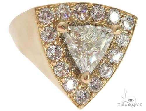 14K Yellow Gold Prong Diamond Trillion Cut Ring 61790 Stone