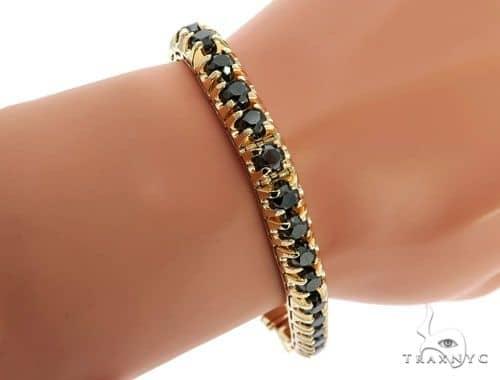 Mens Diamond Jewelry Men S Bracelets 14k Yellow Gold Black Bracelet 61796
