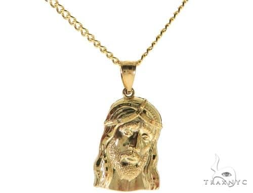 Jesus Piece 22 Inches Cuban Link Chain Set 61813 Style