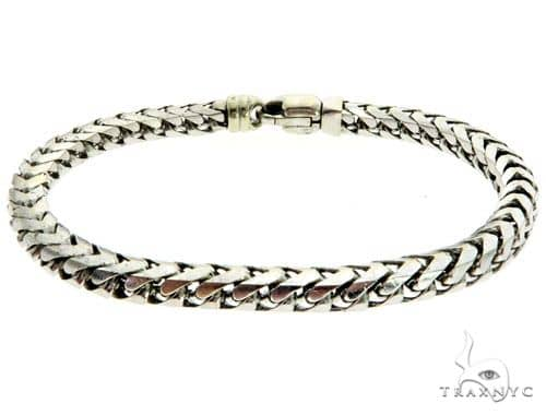 14K White Gold Men\'s Bracelet 61855 Gold