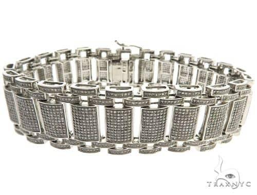 10K White Gold Micro Pave Diamond Bracelet 62465 Diamond