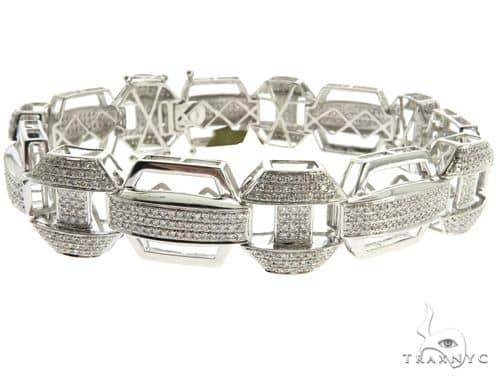 14K White Gold Micro Pave Diamond Bracelet 62466 Diamond