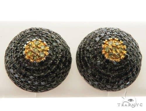 14K White Gold Micro Pave Diamond Stud Round Earring 62612 Stone