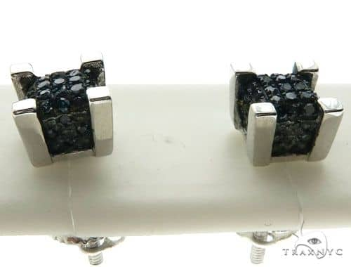 10K White Gold Micro Pave Diamond Stud Earrings 62626 Stone