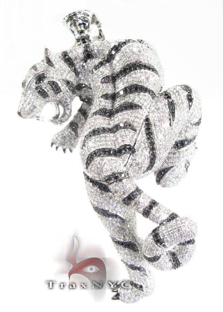 White Tiger Pendant Metal