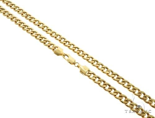 10K Yellow Gold Hollow Cuban Curb Link Chain 24 Inches 7mm 28.5 Grams 63095 Gold