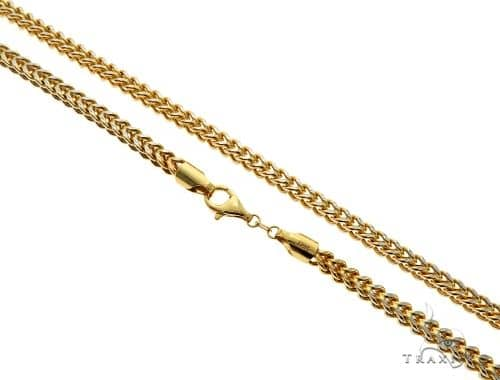 14K Yellow Gold Hollow Franco Link Chain 24 Inches 5mm 33.3 Grams 63097 Gold