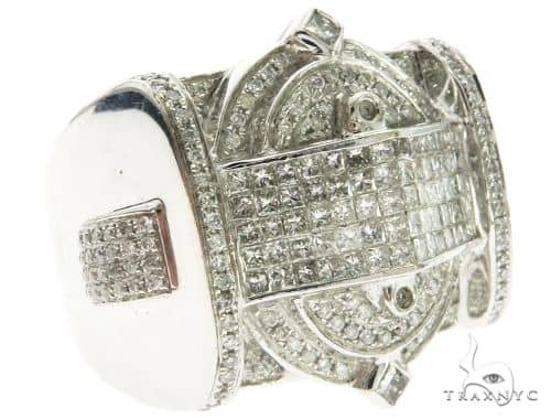 14K White Gold Invisible Bezel Micro-Pave Diamond Kings Ring 63186 Stone