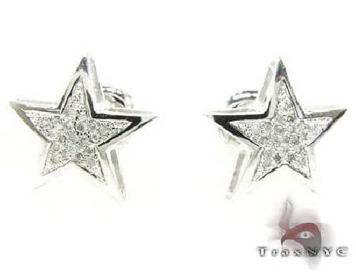 Mini Star Earrings 2 63421 Stone