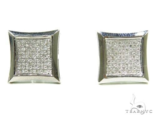 10K Micro-Pave Diamond Earrings 37666 63424 Stone