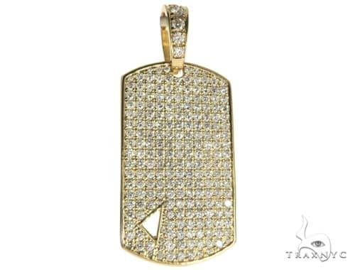 Diamond Triangle Dog Tag Pendant 45572 Style