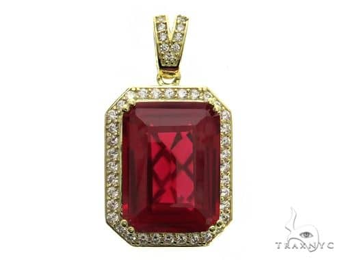 Small Hot Red Tresaure Gold Pendant 63438 Metal