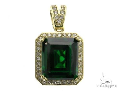 Mini Green Tresaure Gold Pendant 63442 Metal