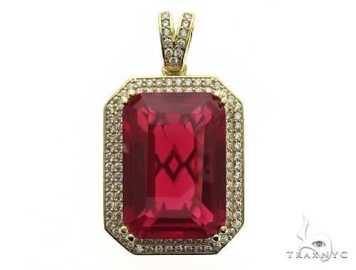 Two Row Hot Red Tresaure Gold Pendant 63444 Metal