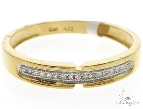 10K Yellow Gold Micro Pave Diamond Ring 63567 Stone