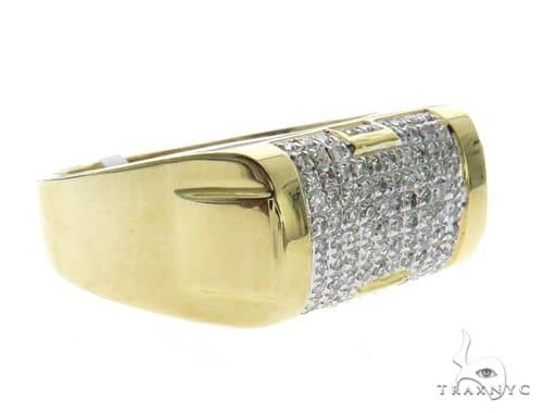 10K Yellow Gold Micro Pave Diamond Stud Ring 63568 Holiday Special Rings