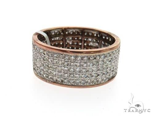 14K Rose Gold Micro Pave Diamond Ring 63569 Stone