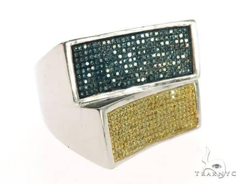 10K White Gold Dual Color Diamond Ring 63572 Stone