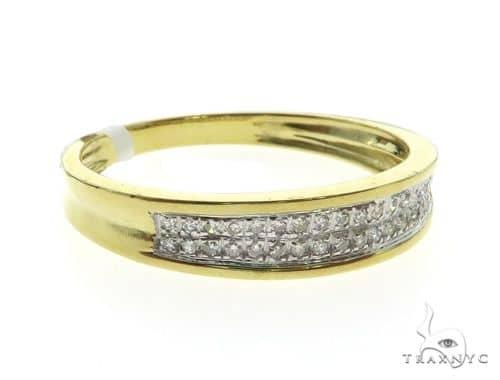 10K Yellow Gold MIcro Pave Diamond Ring 63573 Stone