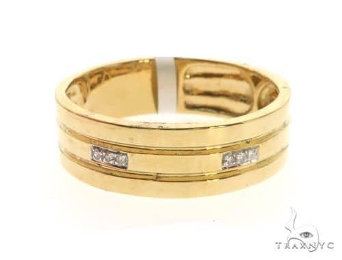 14K Yellow Gold Micro Pave Diamond Ring 63574 Stone