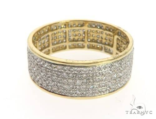 14K Yellow Gold Micro Pave Diamond Ring 63575 Stone