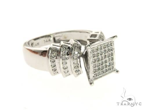 14K White Gold Micro Pave Diamond Ring 63577 Stone