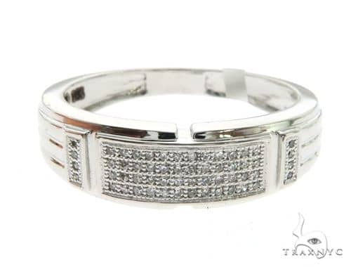 14K White Gold Micro Pave Diamond Ring 63578 Stone