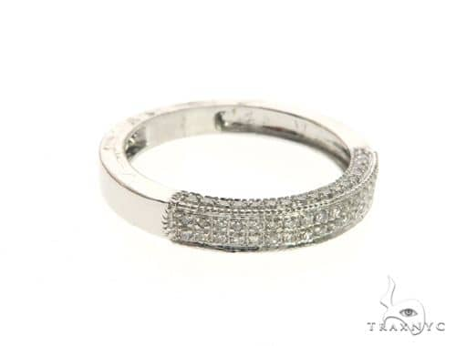 14K White Gold Micro Pave Diamond Ring 63579 Stone