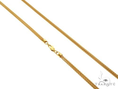 22K Yellow Gold Round Box Link Chain 22 Inches 3.5mm 25.8 Grams 63598 Gold
