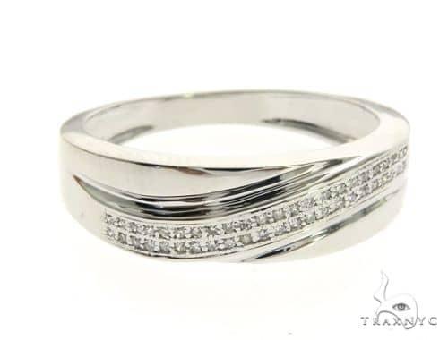 10K White Gold Micro Pave Diamond Ring 63604 Stone