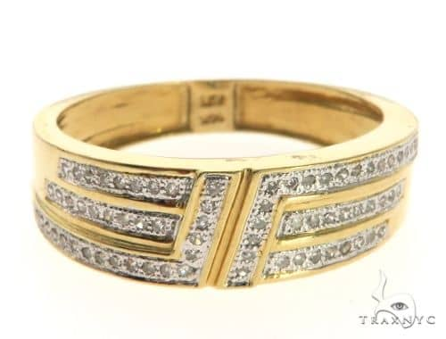 14K Yellow Gold Micro Pave Diamond Ring 63638 Stone