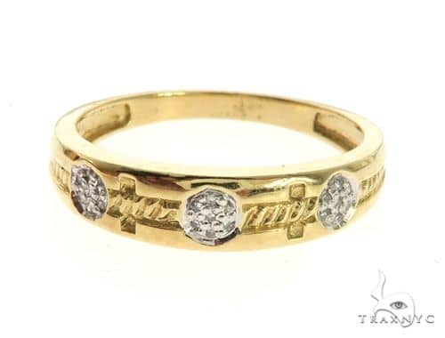 10K Yellow Gold Micro Pave Diamond Ring 63642 Stone