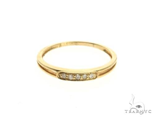 14K Yellow Gold Micro Pave Diamond Ring 63643 Stone