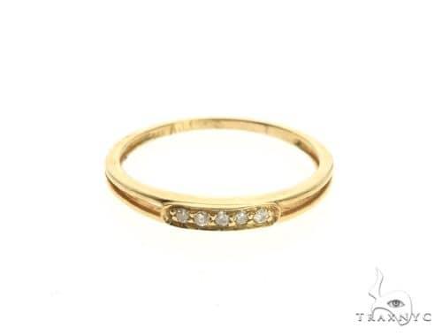 14K Yellow Gold Micro Pave Diamond Ring 63643 Stone