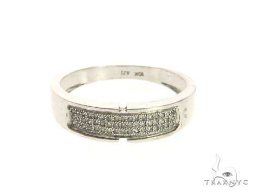 10K White Gold Micro Pave Diamond Ring 63645 Stone