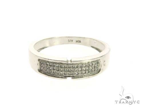 10K White Gold Micro Pave Diamond Ring 63645 Stone