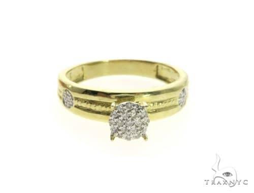 10K Yellow Gold Micro Pave Diamond Ring 63646 Stone