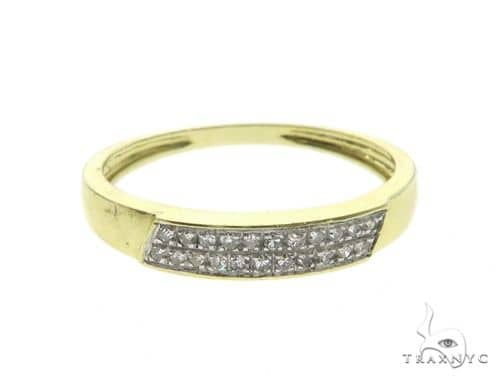 14K Yellow Gold Micro Pave Diamond Ring 63651 Stone