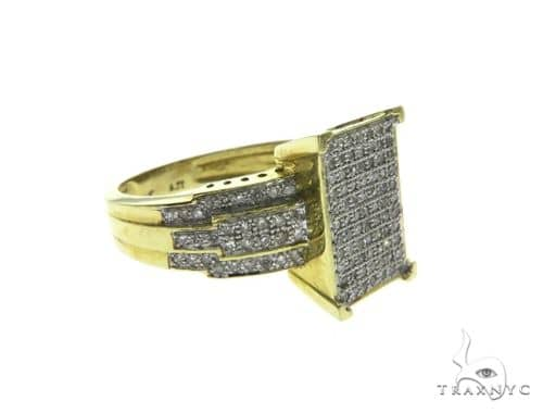 14K Yellow Gold Micro Pave Diamond Ring 63653 Stone