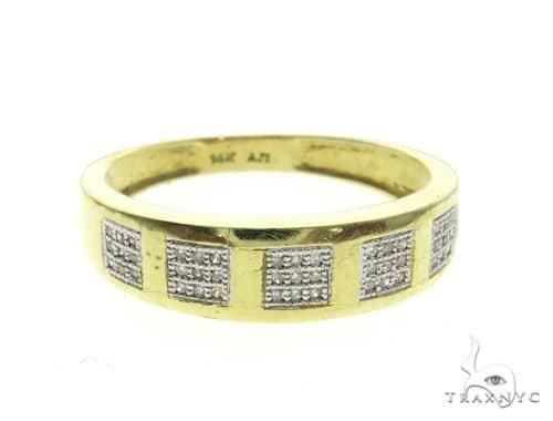 14K Yellow Gold Micro Pave Diamond Ring 63659 Stone