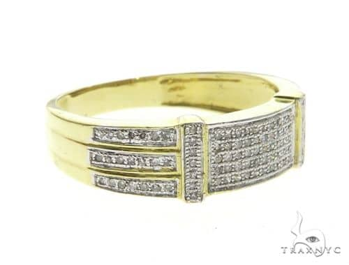 14K Yellow Gold Micro Pave Diamond Ring 63663 Stone