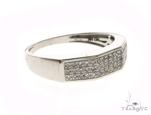 14K White Gold Micro Pave Diamond Ring 63664 Stone